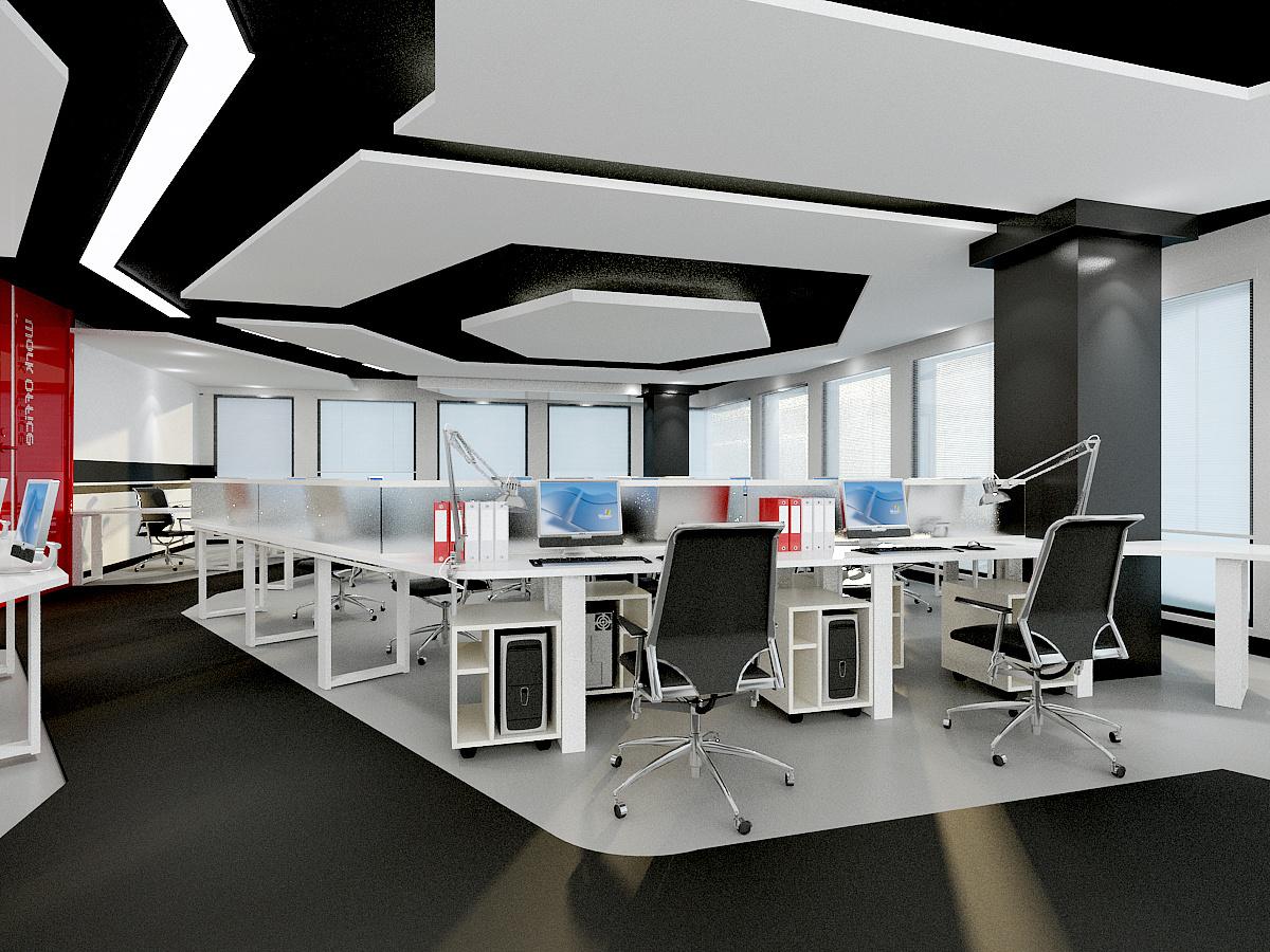 静安区吴江路办公室装修效果图-办公空间-上海办公室